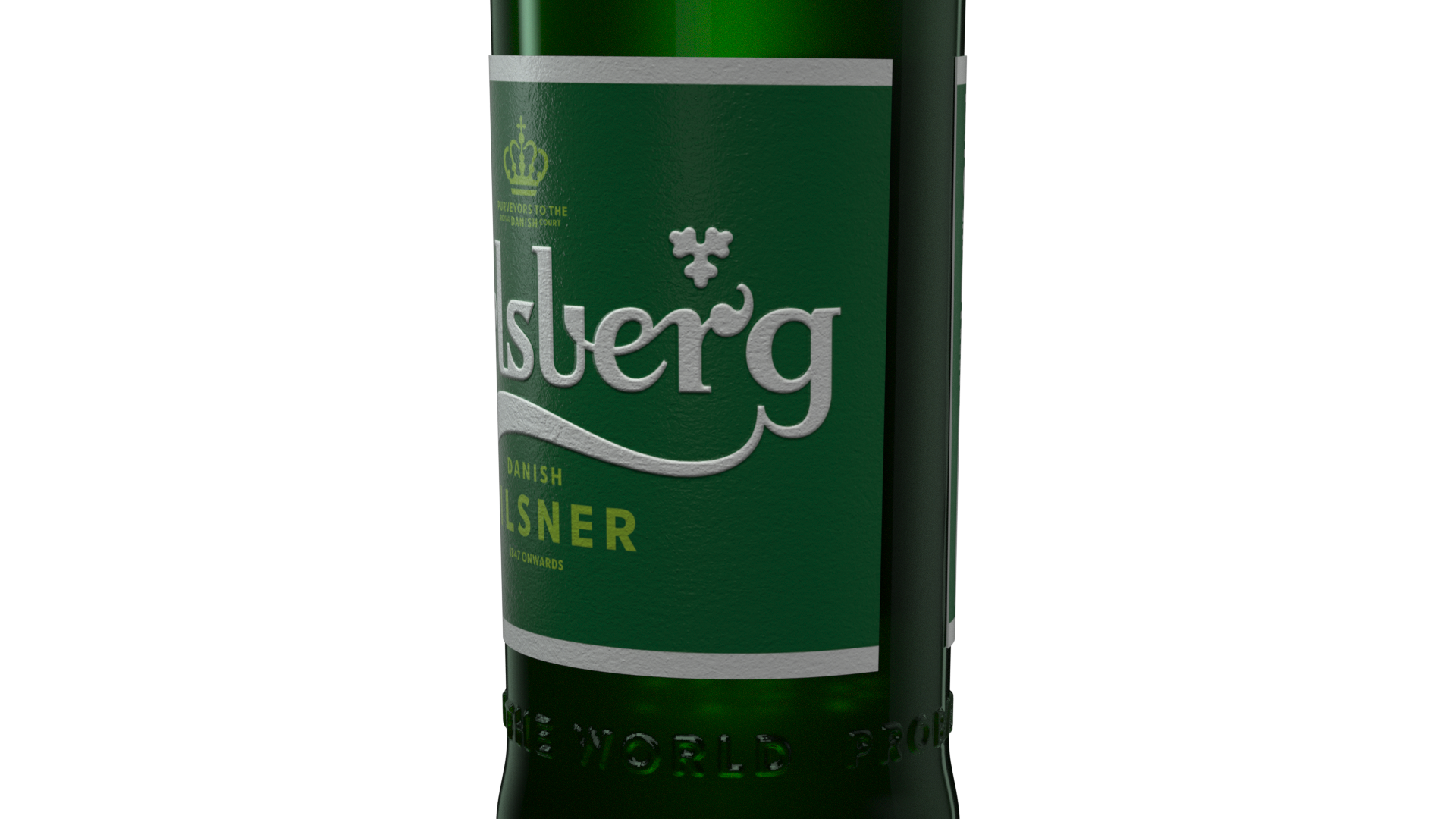 Carlsberg pilsner bottle_Close