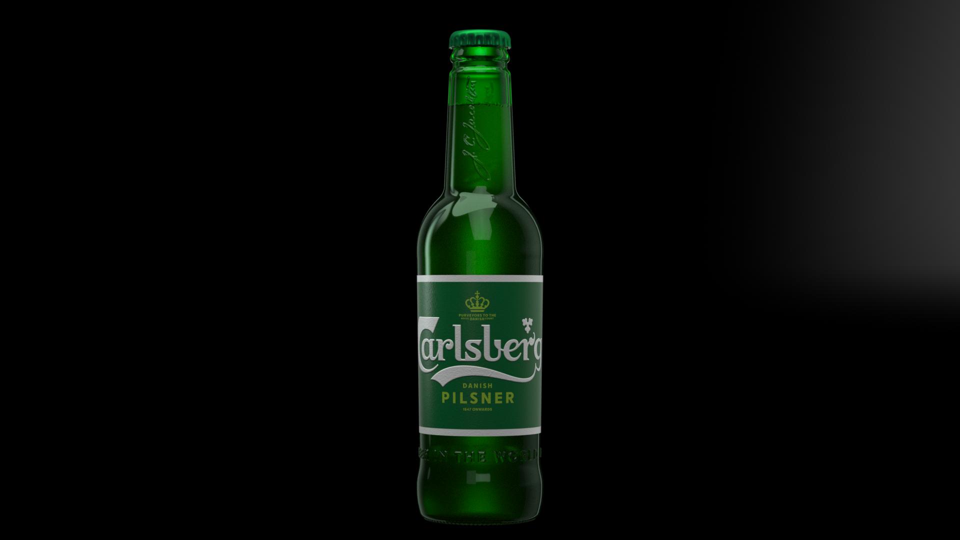 Carlsberg pilsner bottle_Front