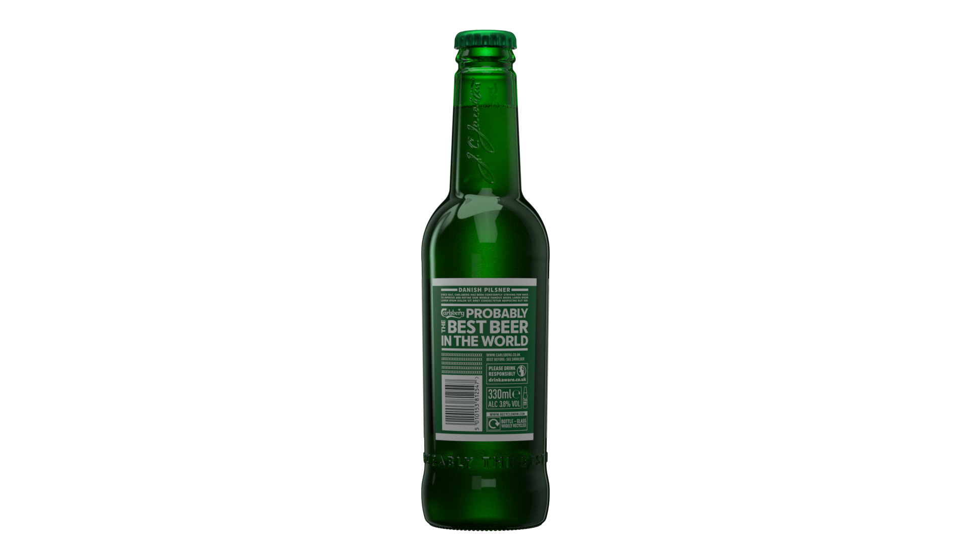 Carlsberg pilsner bottle_Rear