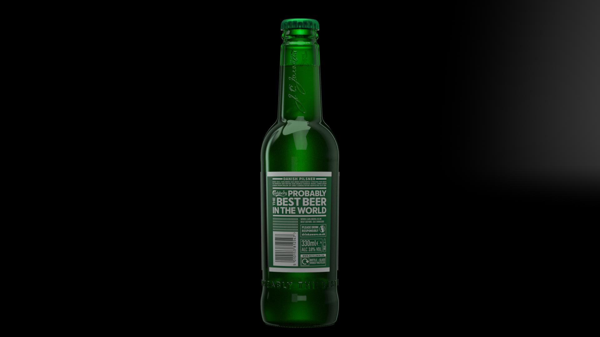 Carlsberg pilsner bottle_Rear